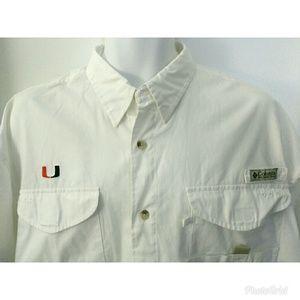 Men's Columbia PFG University of Miami shirt